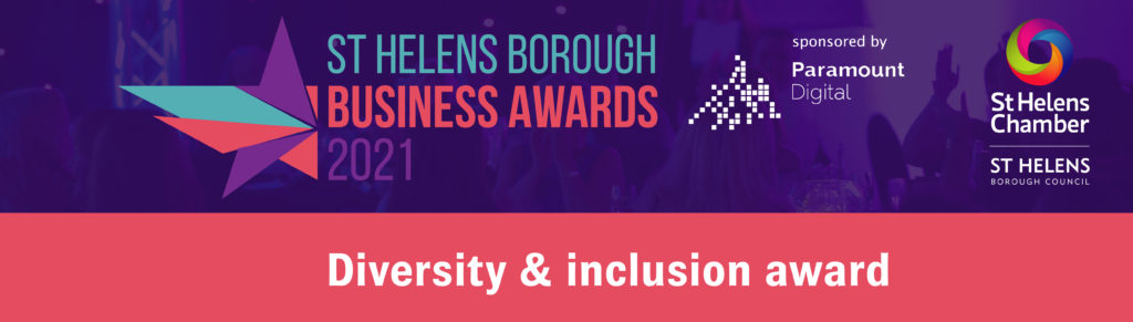 Diversity and Inclusion Award at the St Helens Borough Business Awards 2021