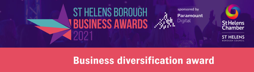 Business Diversification Award at the St Helens Borough Business Awards 2021