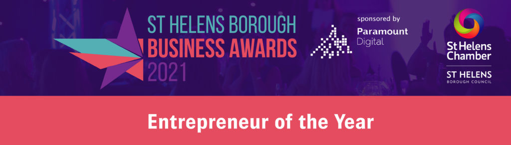 Entrepreneur of the Year at the St Helens Borough Business Awards 2021